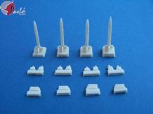 Pavla U72024 1/72 Resin Weapon set Rockets + rails HVAR (W72024)